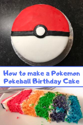How to make a Pokemon Pokeball Birthday Cake