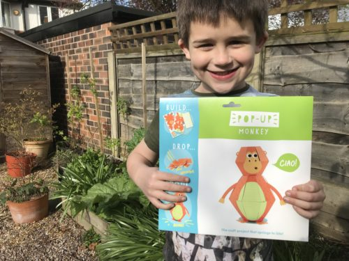 Win a Milly & Flynn Paper Craft Pop Up 3D Monkey kit