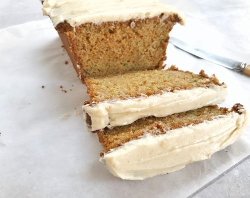 Recipes: Courgette Cake with Cinnamon Frosting