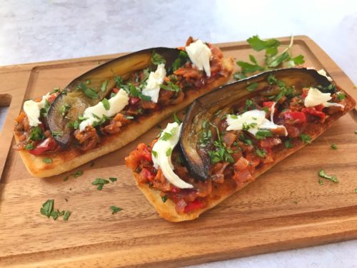 Vegetarian Recipe: Aubergine Bruschetta