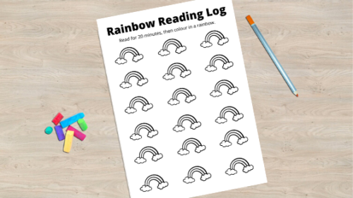 FREE Printable: Rainbow Reading Log