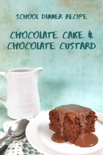 Retro Recipe: Chocolate Cake with Chocolate Custard
