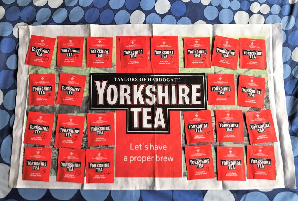 Make Your Own Yorkshire Tea Advent Calendar
