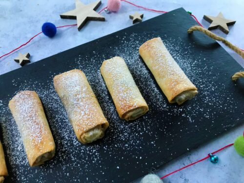 Easy Christmas Recipe: Mincemeat Filo Rolls