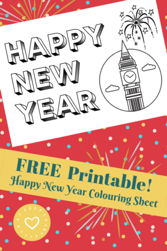 FREE Printable: Happy New Year Colouring Sheet