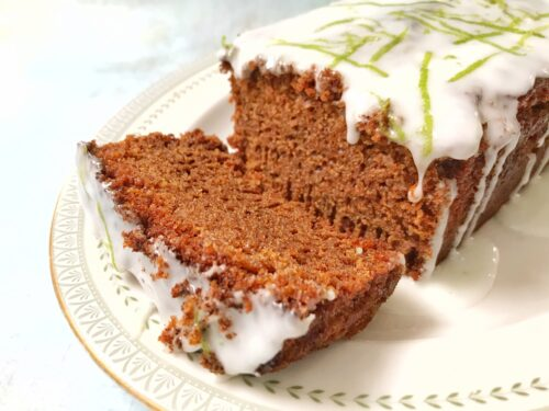 Ginger Loaf Cake with Zesty Lime Icing