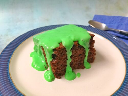 Retro Recipe: Chocolate Cake with Minty Green Custard