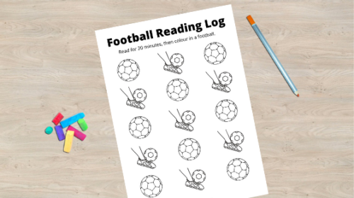 FREE Printable: Football Reading Log