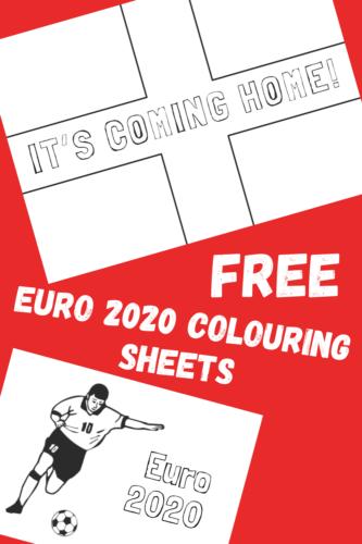 FREE England Euro 2020 Colouring Sheets